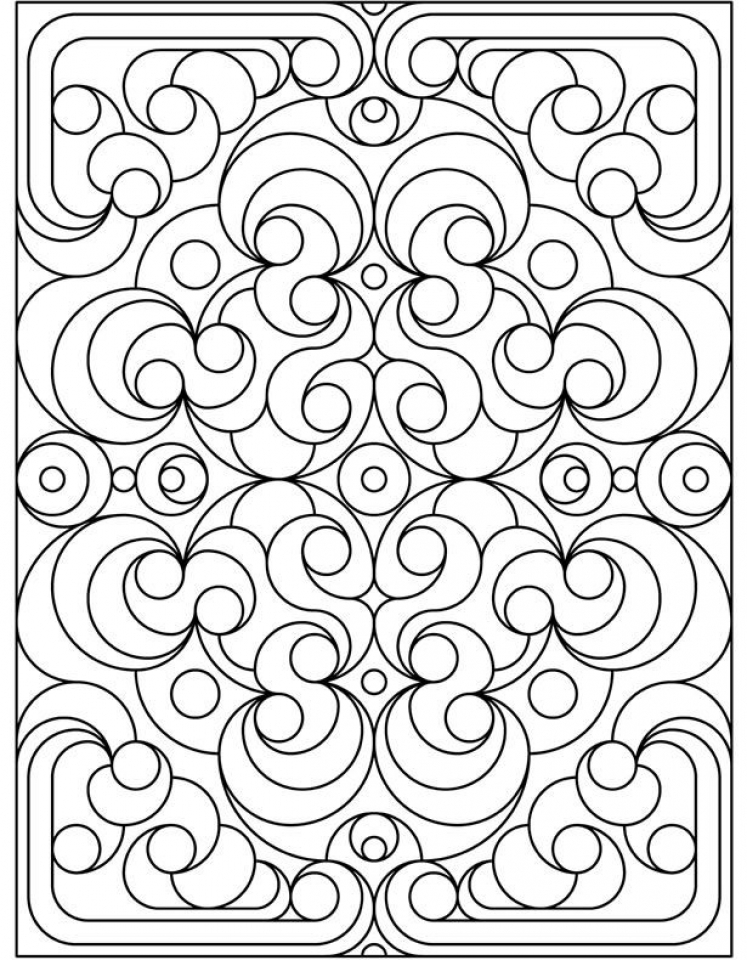 Get This Art Deco Patterns Coloring Pages For Grown Ups