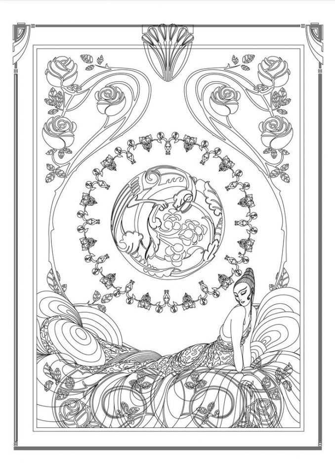Get This Art Deco Patterns Coloring