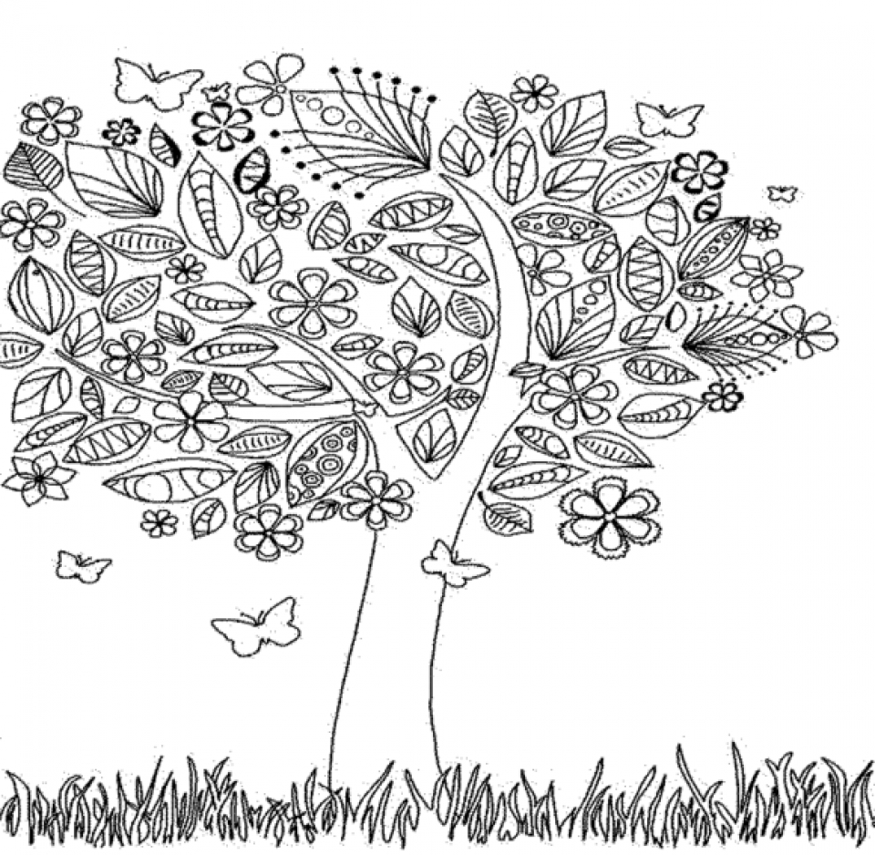 Get This Autumn Coloring Pages for Adults Free Printable tpl76 !