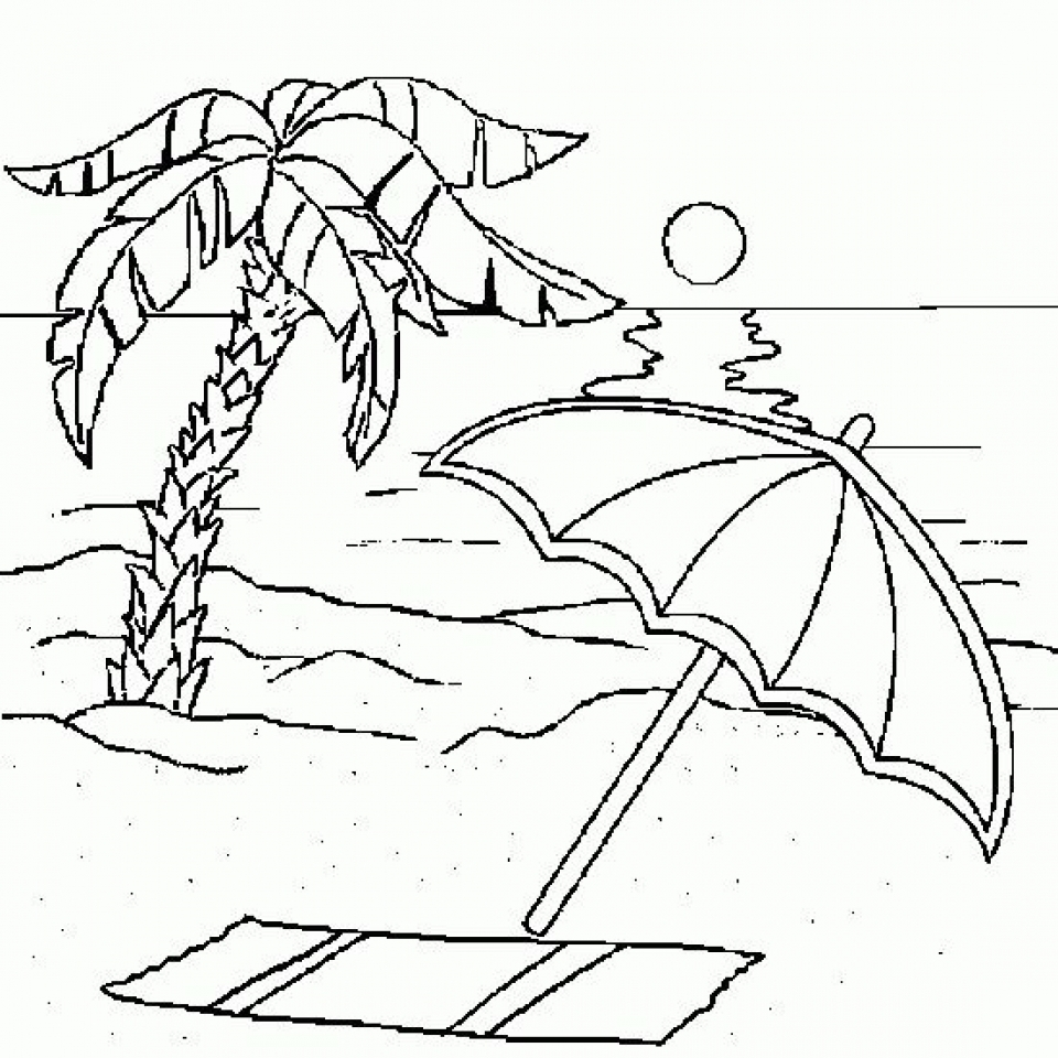 Get This Beach Coloring Pages Free Printable K2RWW