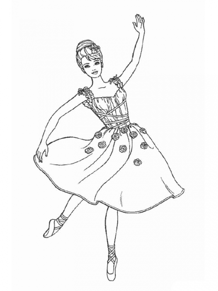 Beautiful Ballerina Coloring Pages   99751