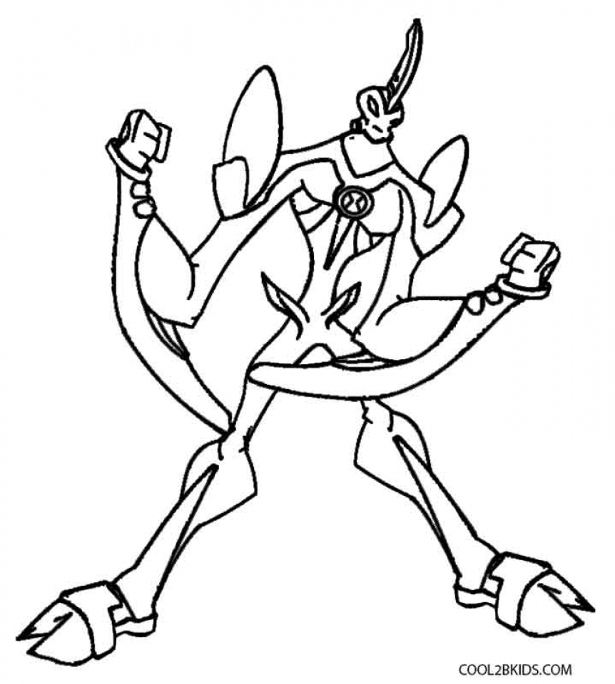 Ben 10 coloring pages on Coloring-Book.info | 960x862