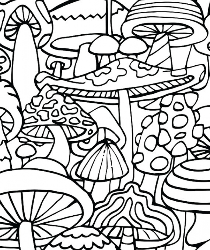 challenging trippy coloring pages for adults pl3c6 - Trippy Coloring Books