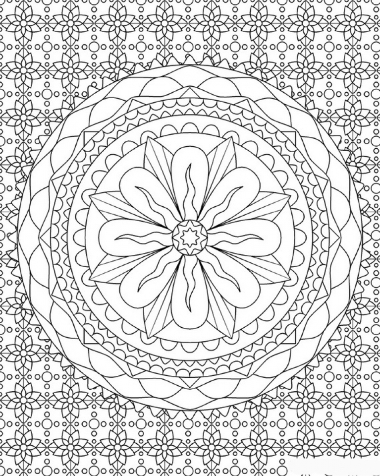 complex coloring pages online - photo#48