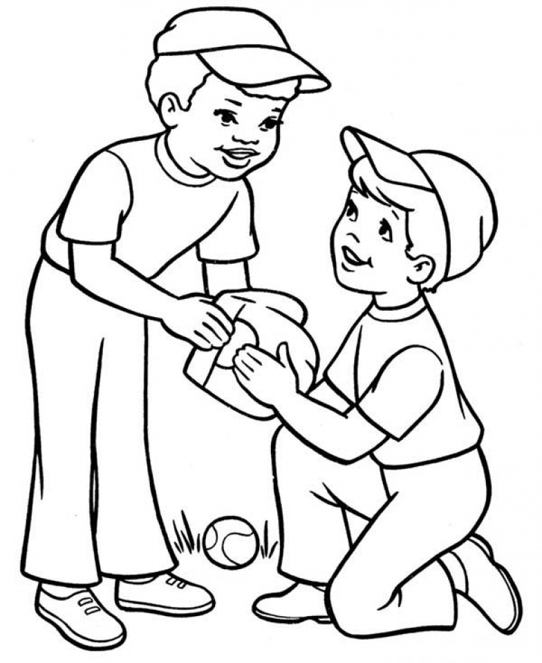 coloring pages kids boys - photo#32