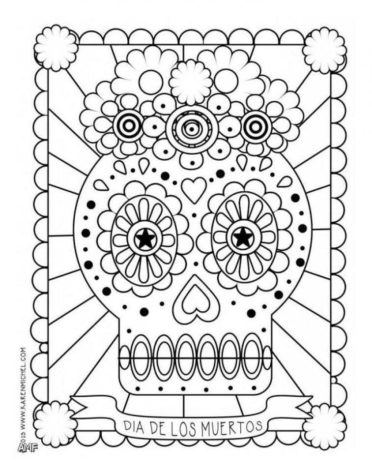get this dia de los muertos coloring pages free printable