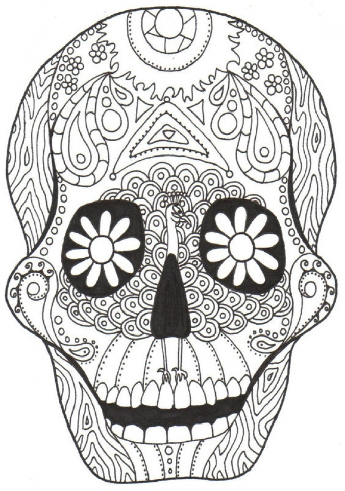Dia De Los Muertos Coloring Pages Free Printable   jcaj12