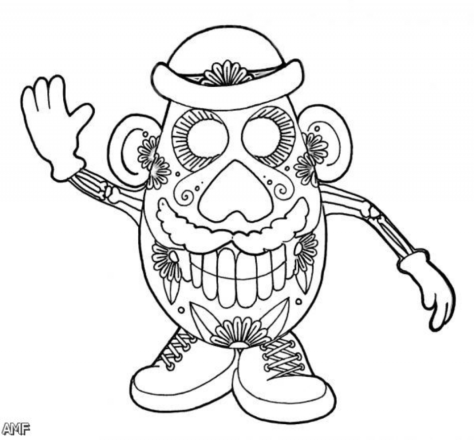 dia de los muertos coloring pages free printable p3frm - Day Of The Dead Coloring Pages