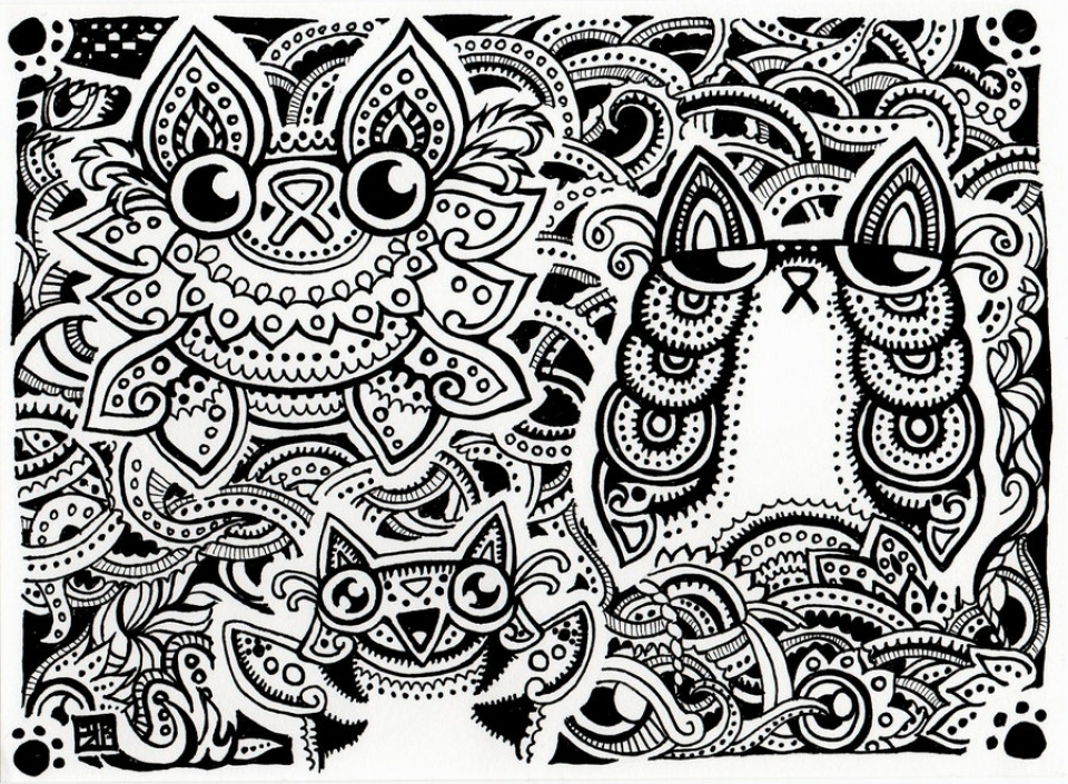 20 Free Printable Trippy Coloring Pages For Adults