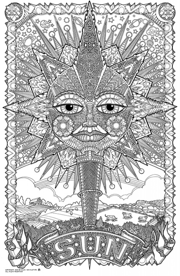 difficult trippy coloring pages for grown ups x8br6 - Trippy Coloring Books