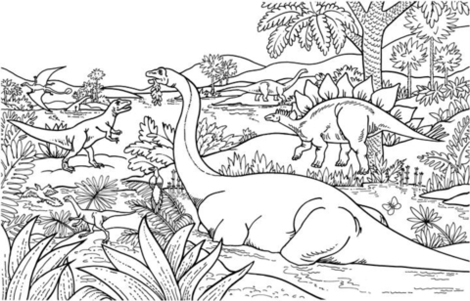 get this dinosaurs coloring pages free