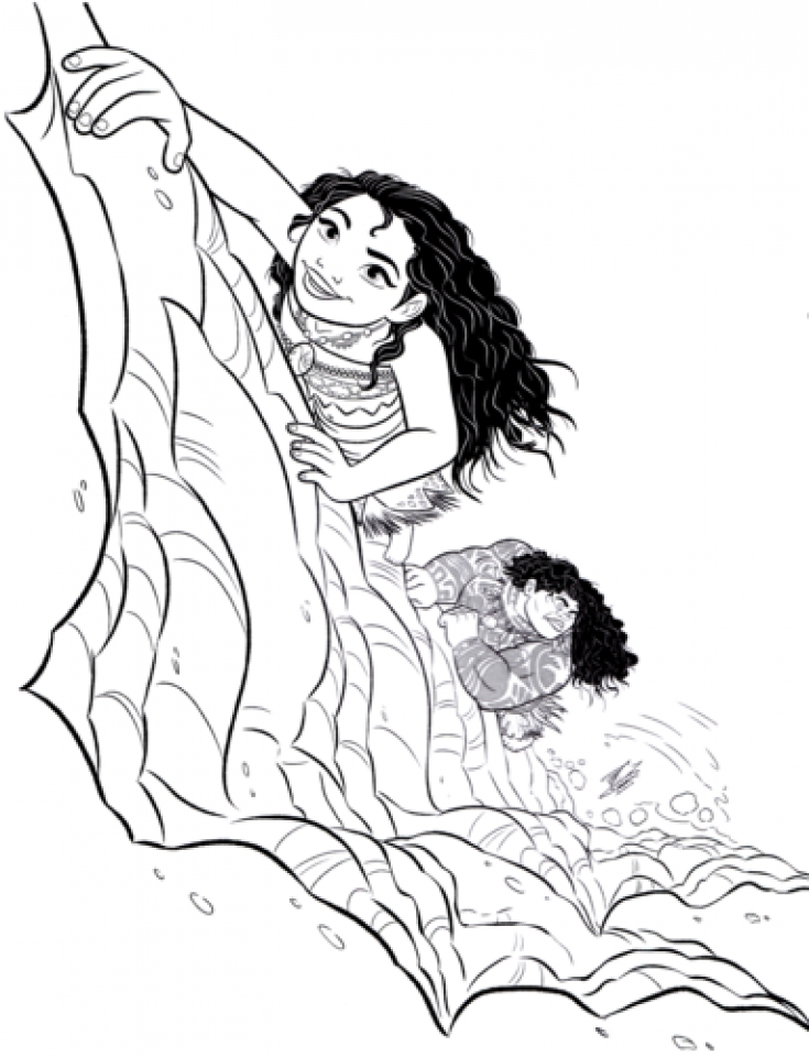 Disney Princess Moana Coloring Pages To Print BC98M