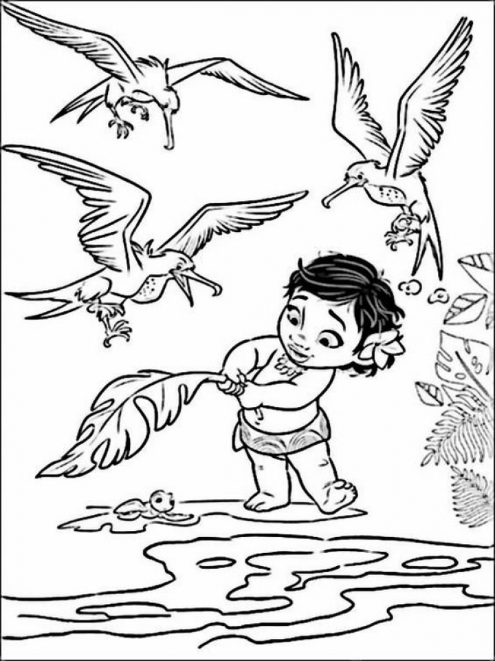 Get This Disney Princess Moana Coloring Pages To Print Ru28y