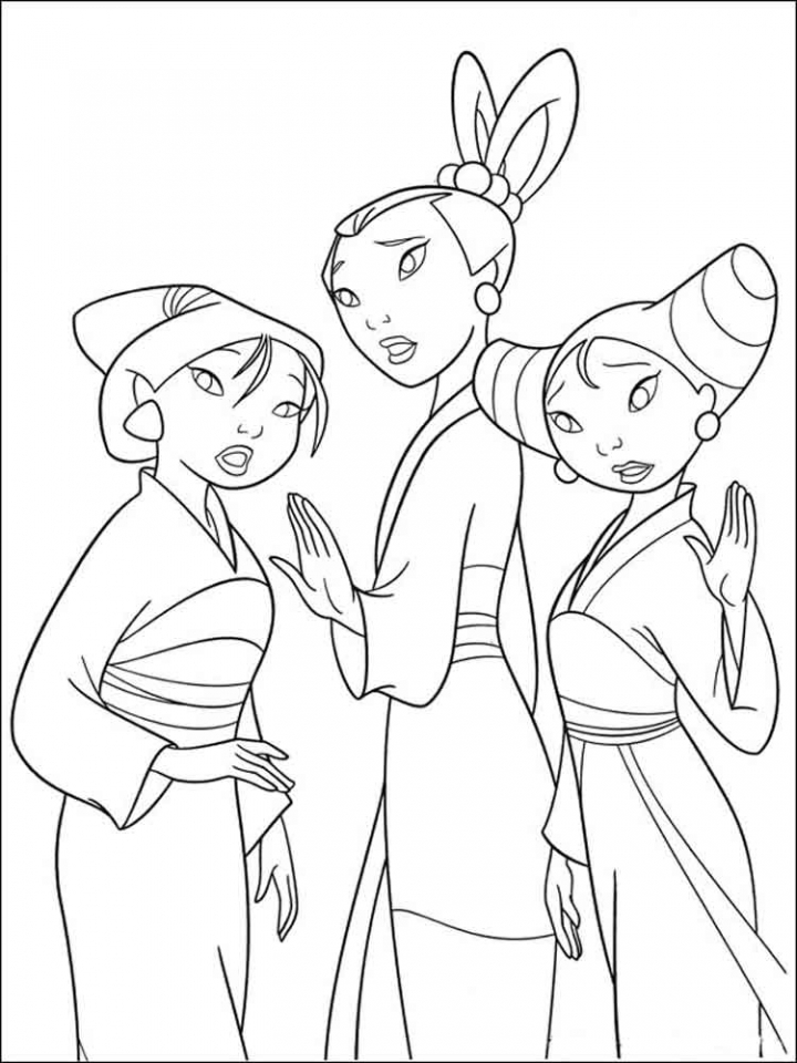 Get This Disney Princess Mulan Coloring Pages ta219