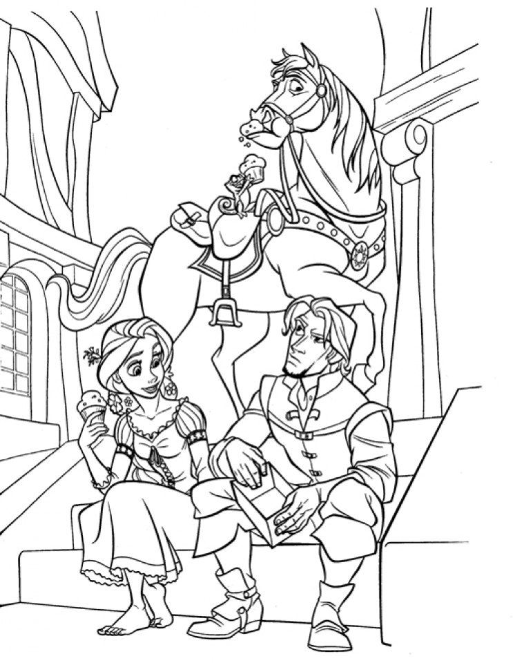 Get This Disney Princess Rapunzel Coloring Pages 2N8GF