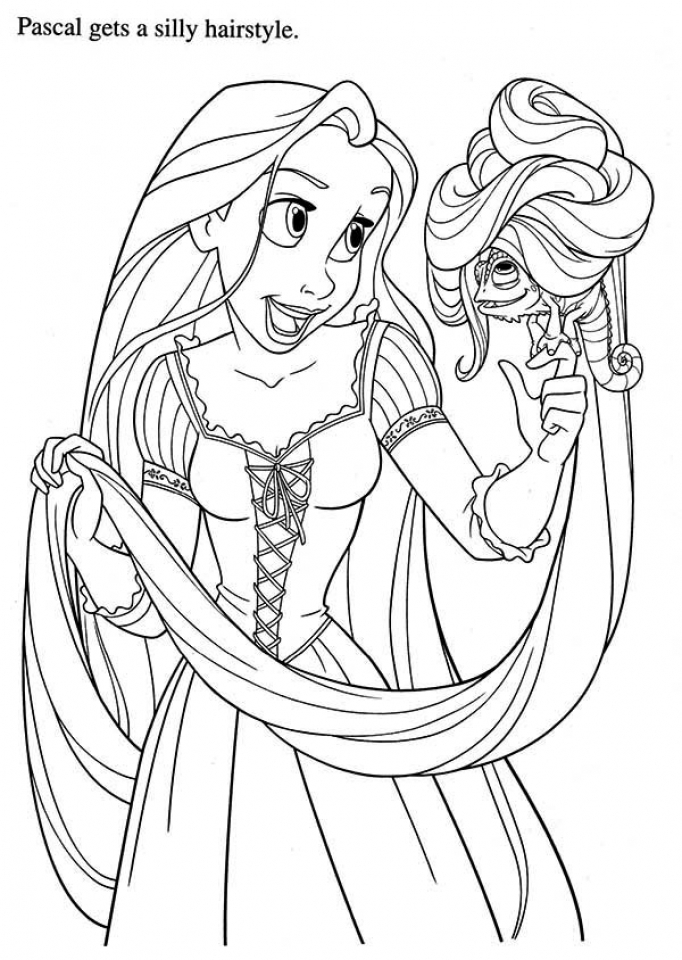 Disney princess colouring pages rapunzel coloring page for Disney tangled coloring pages