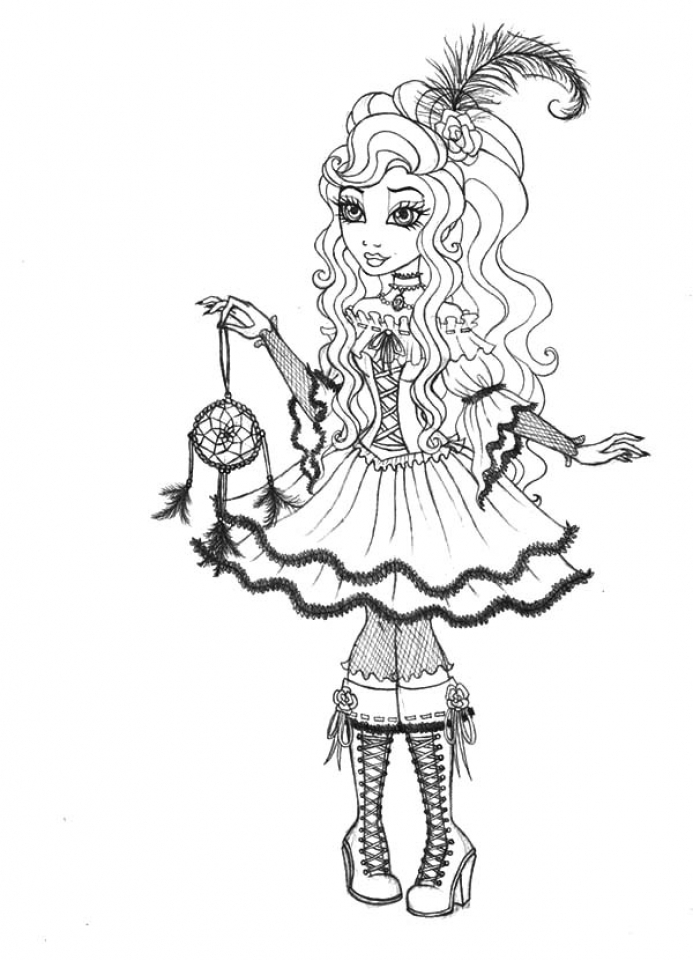 Colouring Pages Ever After High Ever After High Cedar