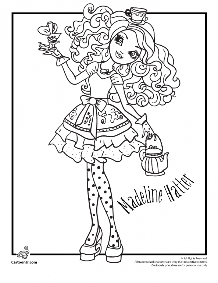 Ever After High Coloring Pages For Girls Dpp67