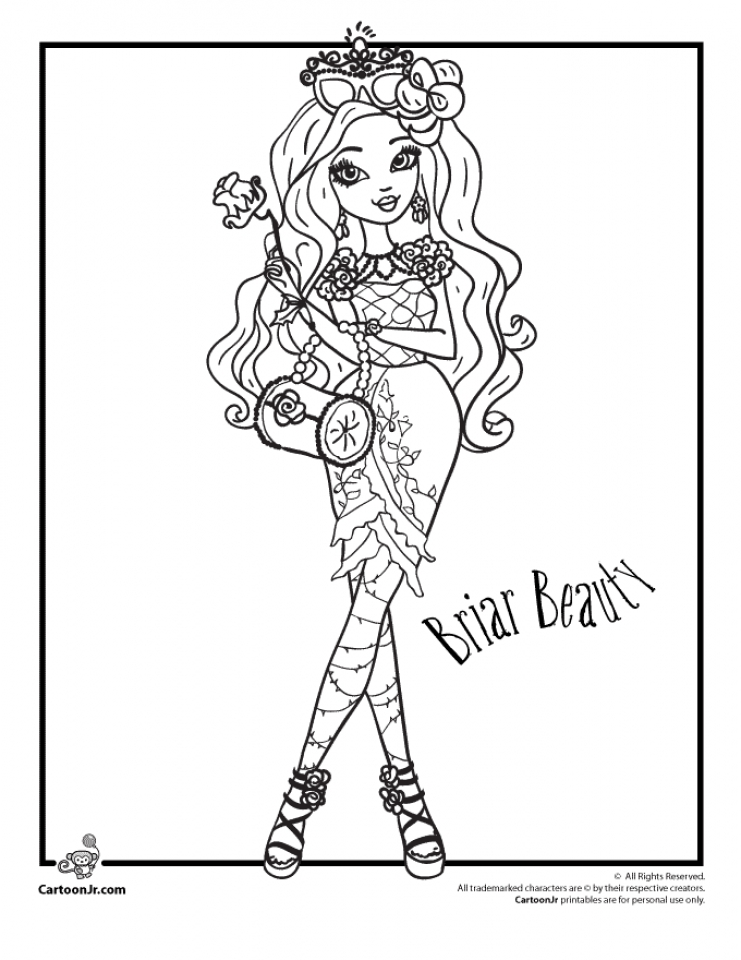 Get This Ever After High Coloring Pages For Girls VBN87