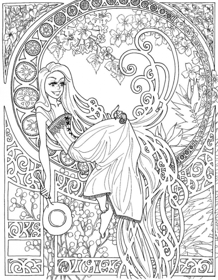 Exciting Doodle Art Grown up Coloring Pages Free   25CF1