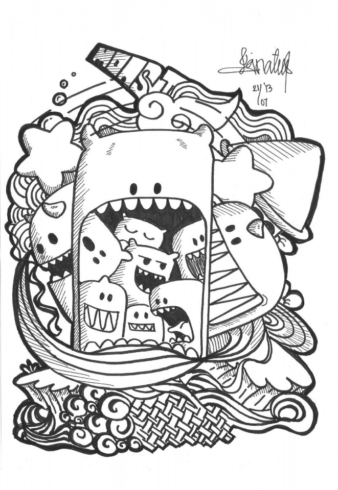 exciting doodle art grown up coloring pages free 76cf6 - Grown Up Coloring Pages