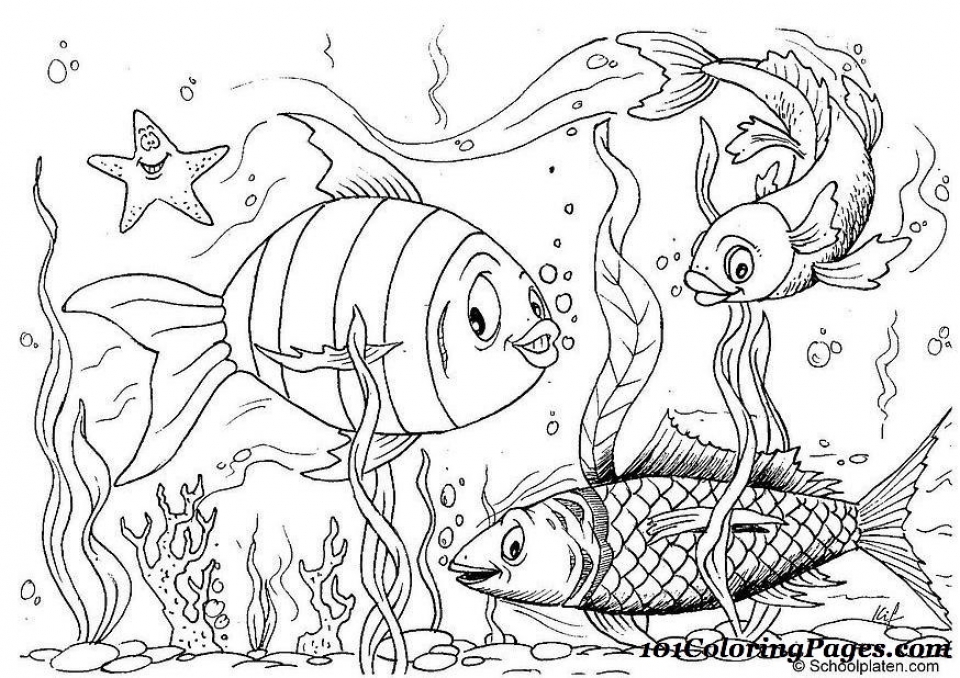 top 25 printable fish coloring pages