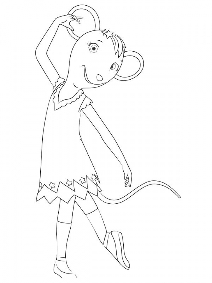 Get This Free Angelina Ballerina Coloring Pages 787909 !