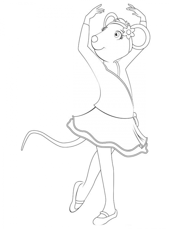 free angelina ballerina coloring pages to print 194510 - Angelina Ballerina Coloring Pages