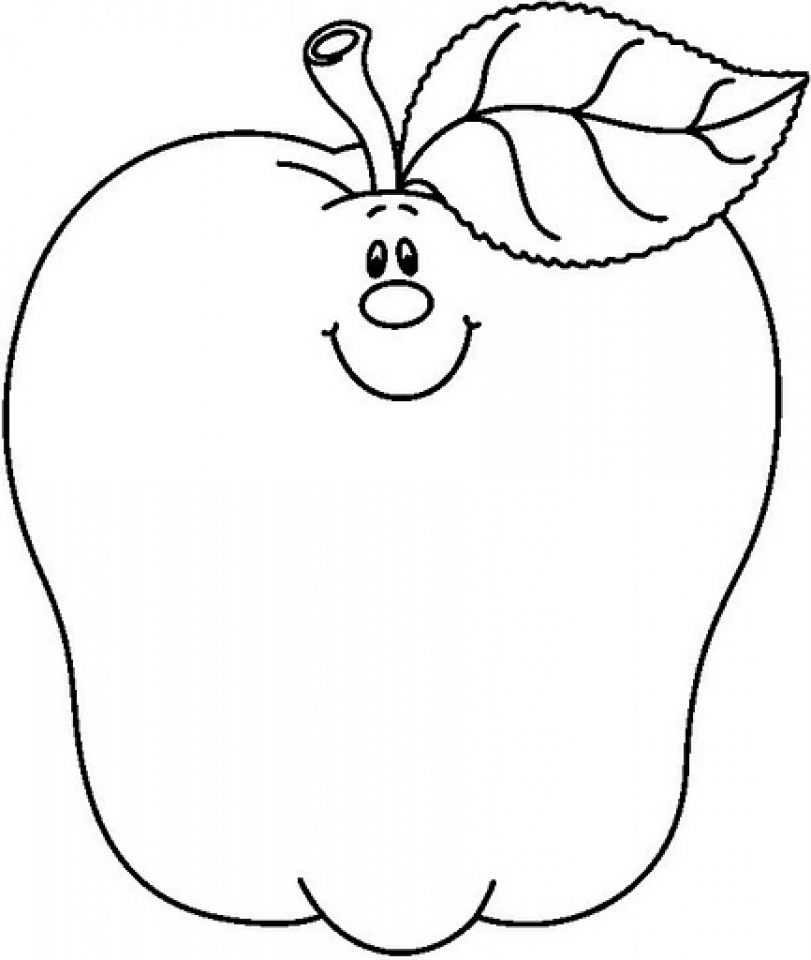 Free Coloring Pages Of An Apple : Get this free apple coloring pages to print pyax