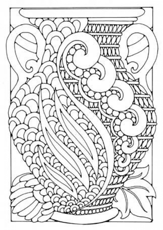 Get this free art deco patterns coloring pages for adults Coloring book for adults free download