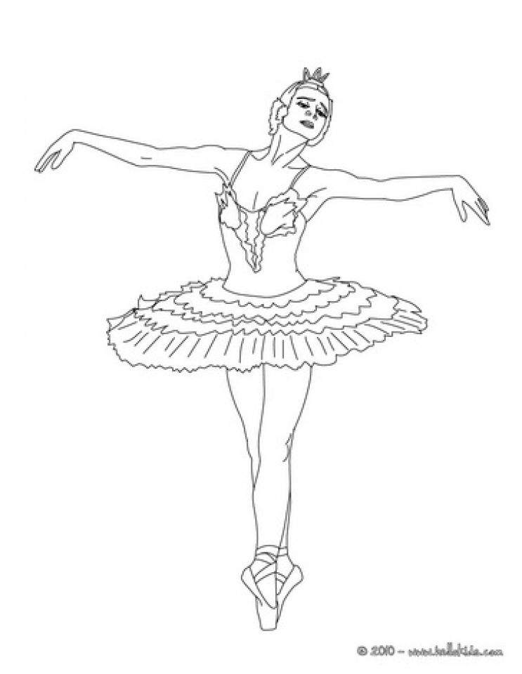 Get This Free Ballerina Coloring Pages To Print Rk86j
