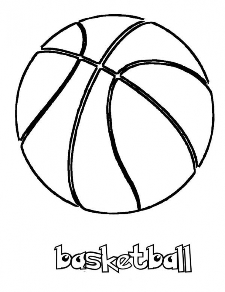 Get This Free Basketball Coloring