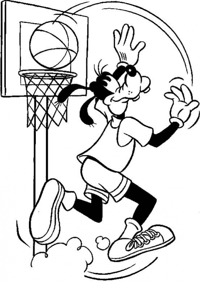 Get This Free Basketball Coloring Pages to Print 993969
