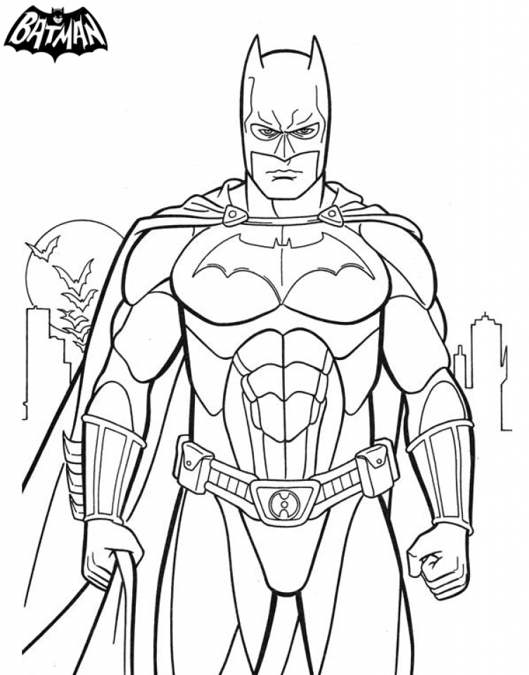 Free Batman Coloring Pages To Print 194520