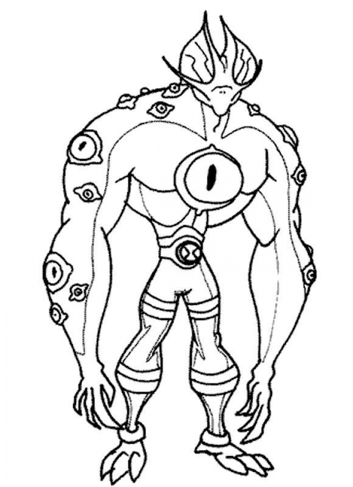 Get This Free Ben 10 Coloring Pages To Print 6pyax