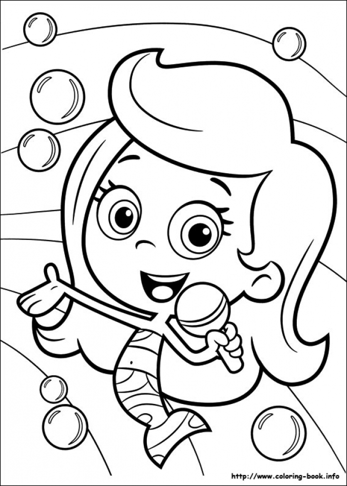 Get This Free Bubble Guppies Coloring Pages 119150 Free Guppies Coloring Pages