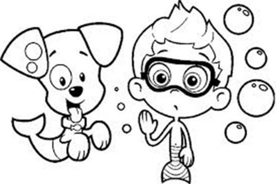Bubble Guppies Coloring Pages New Get This Free Bubble Guppies Coloring Pages To Print 993959 Decorating Design