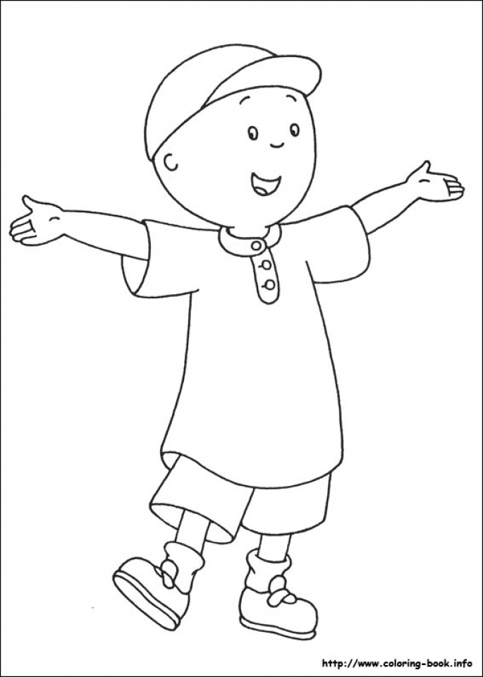 Free Caillou Coloring Pages   72ii27