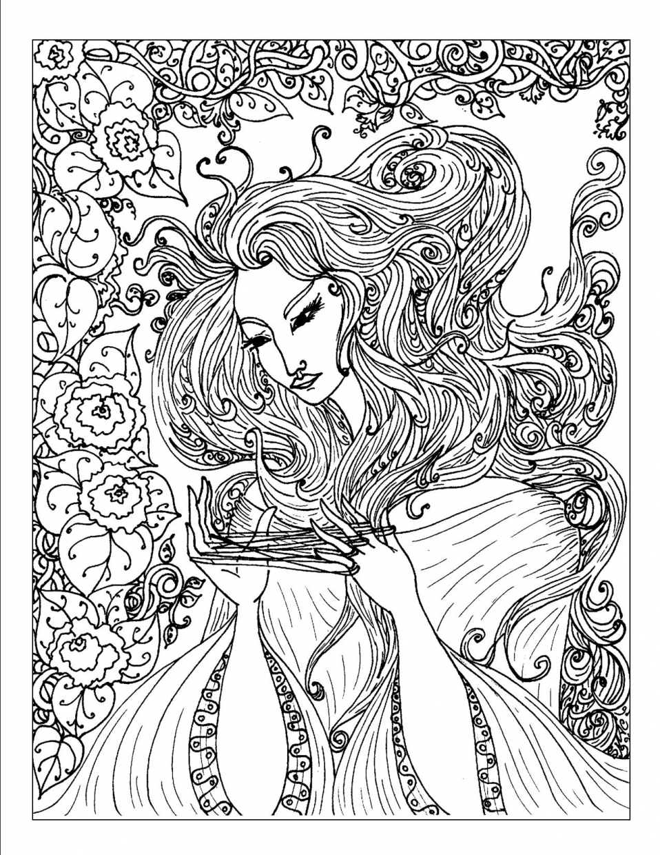 complex coloring pages online - photo#7