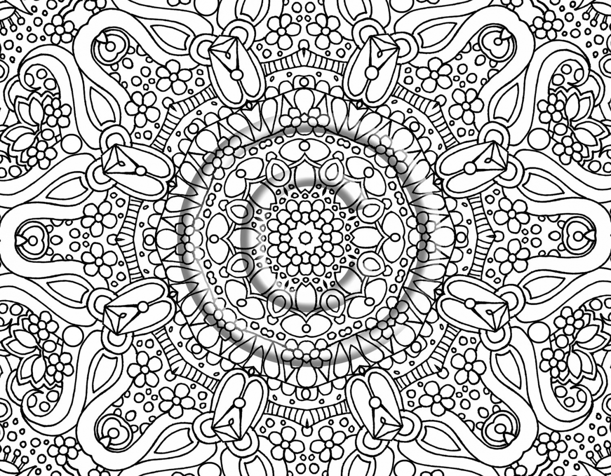 free complex coloring pages to print for adults xy4b6 - Complex Coloring Pages