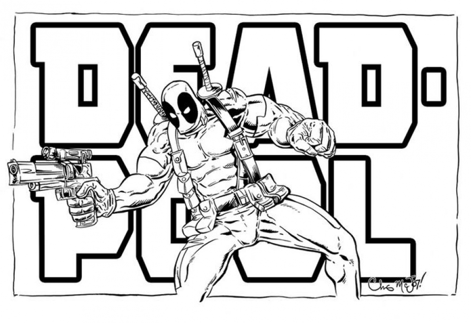 Get This Free Deadpool Coloring Pages 467389