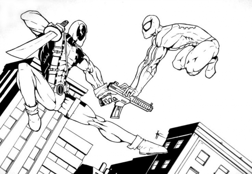 Get This Free Deadpool Coloring Pages to Print 105375