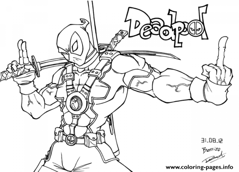 Charming Free Deadpool Coloring Pages To Print 194512