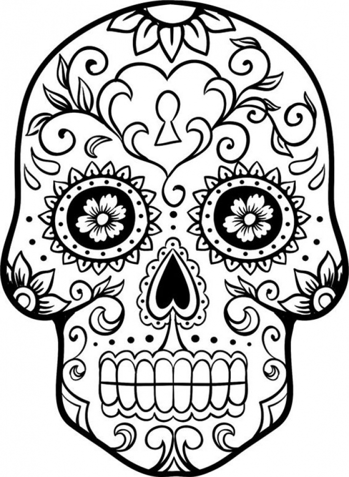 Get This Free Dia De Los Muertos Coloring Pages 72ii10