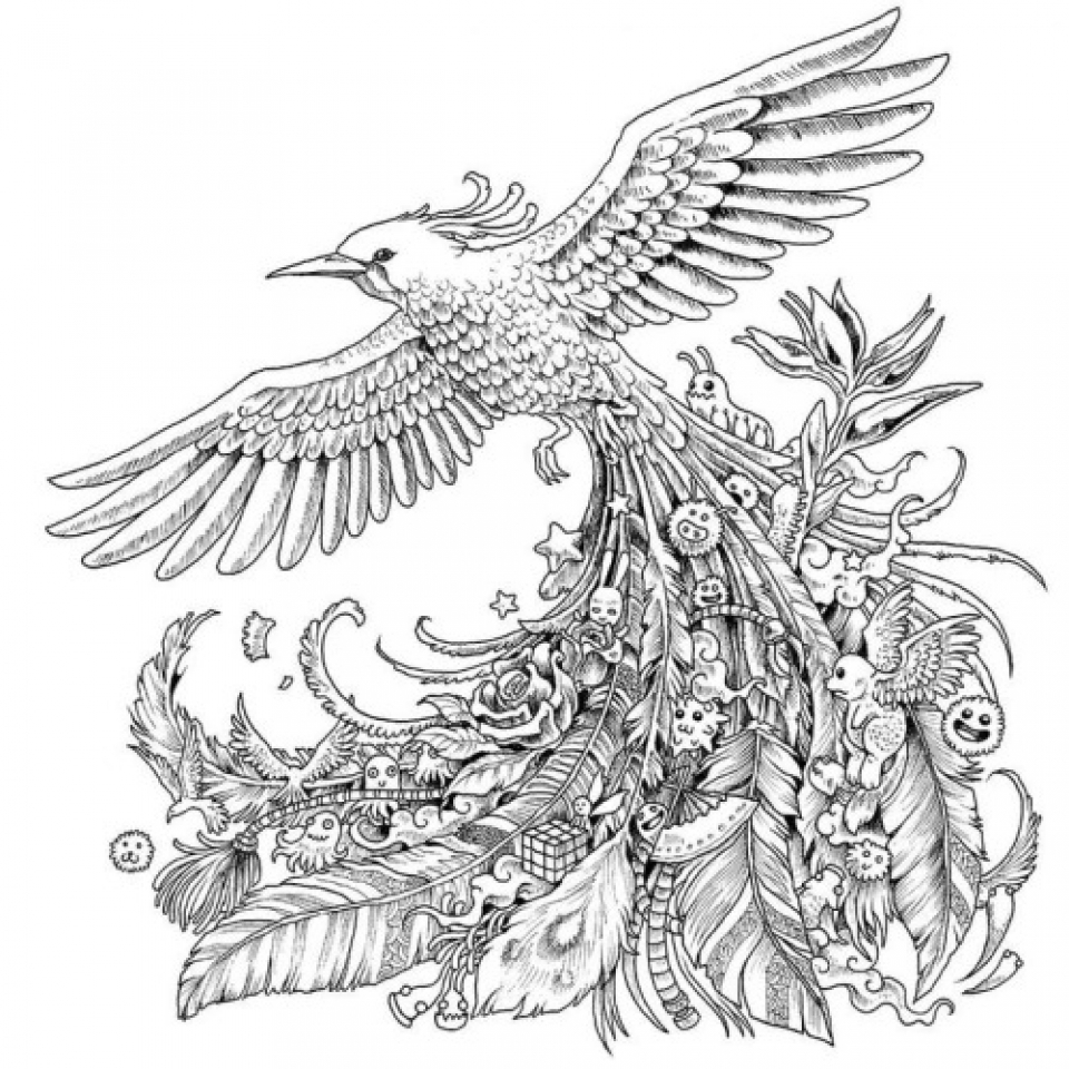 difficult bird coloring pages - photo #27