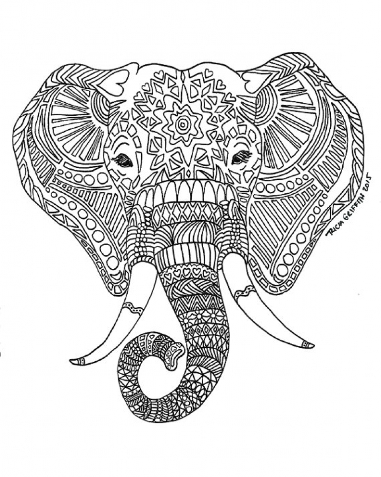 free intricate coloring pages - get this free difficult animals coloring pages for grown