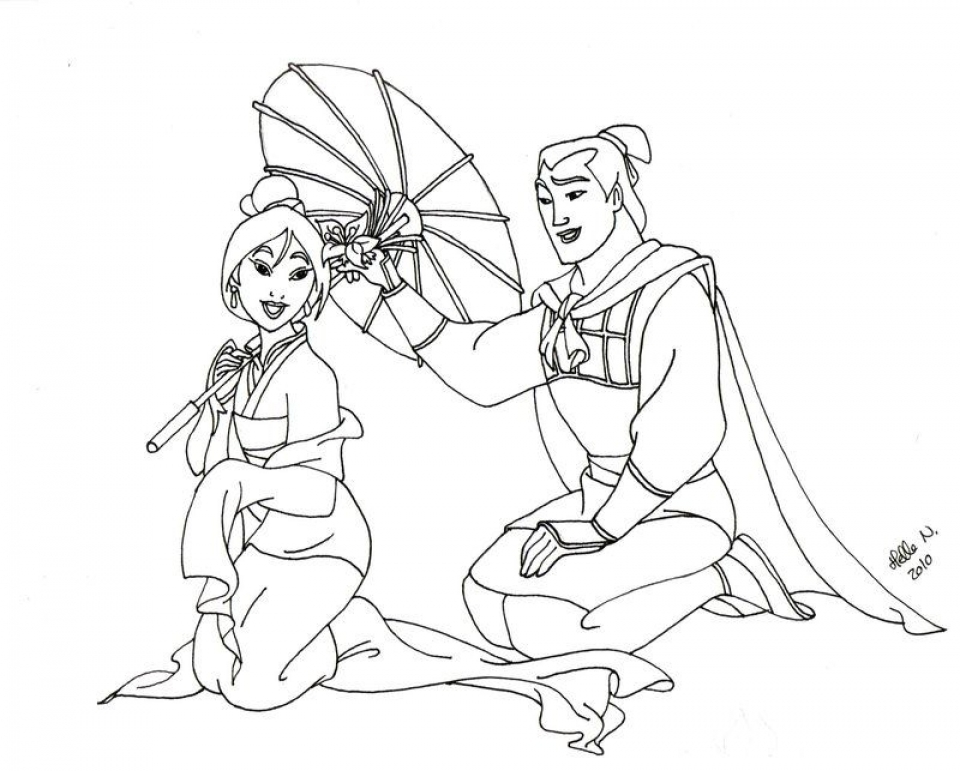 Get This Free Disney Princess Mulan Coloring Pages For