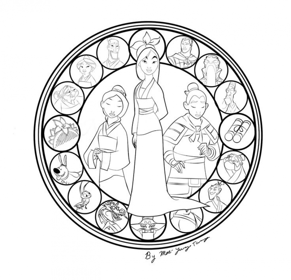 Get This Free Disney Princess Mulan Coloring Pages for Girls hb569 !