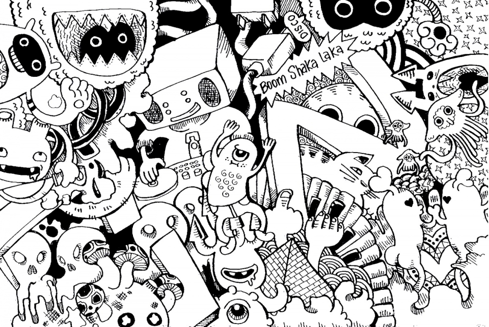 Get This Free Doodle Art Coloring Pages for Adults IYS32 !