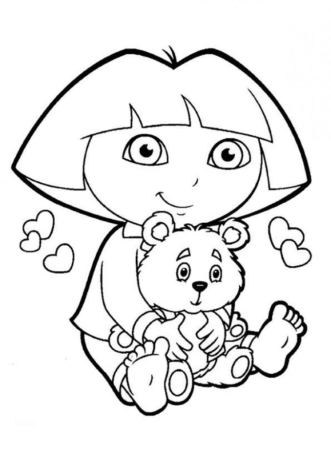 Free Dora The Explorer Coloring Pages T29m26